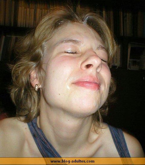 Sperme sur le visage d'hisr
